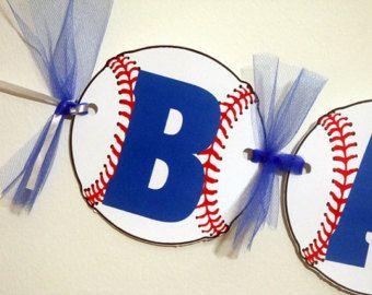 Baseball Baby Shower Banner Baseball Birthday by AntsyDesigns