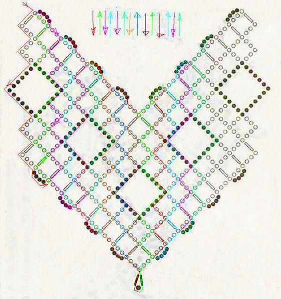 Free pattern for necklace Beaded Squares