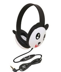 panda caliphone best toddler and kid headphones ($13 on amazon) - click photo to learn more about kids headphones   #travel #familytravel #travelwithkids #kids #headphones