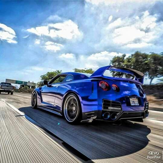 Blue GT-R 35