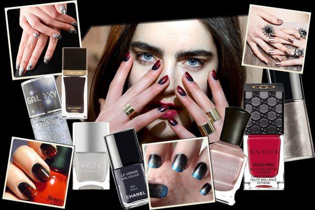 Manicure Ombré: unghie sfumate dalle passerelle A/I 2014-2015 - Grazia.it. Blu sfumato col rosso
