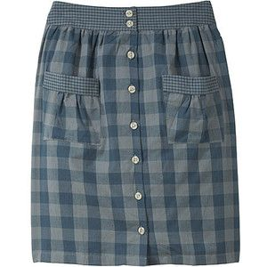 Make a skirt out of an old men's dress shirt.  AWESOME.