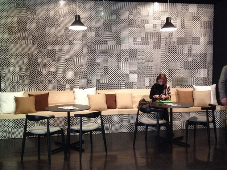 Tagina @ #fuorisalone during the #Milan #Furniture #Fair. Beautiful #blackandwhite graphic