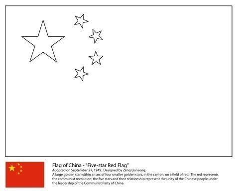 Bandera China Para Colorear Flag Coloring Pages Coloring Pages
