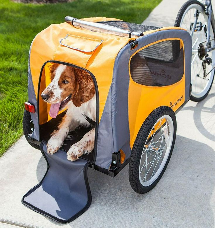 Pet dog bicycle trailer carrier trolley folding steel