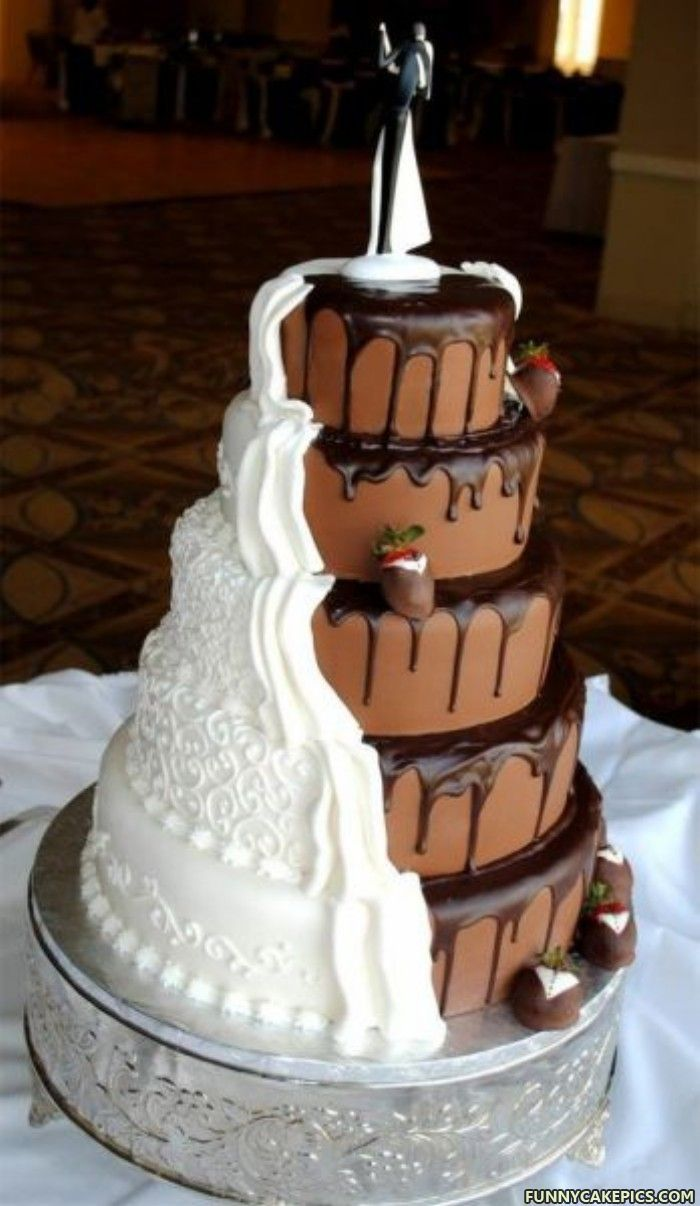 Chocolate-Vanilla Wedding Cake