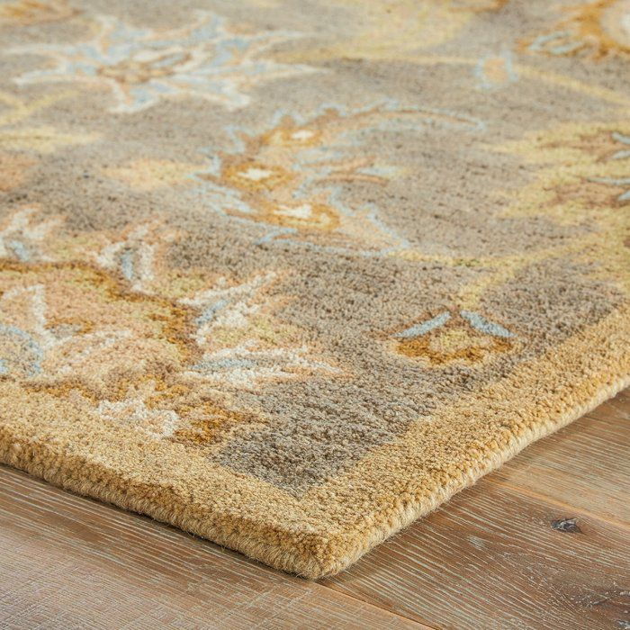 Thornhill Oriental Handmade Tufted Wool Putty Area Rug Rugs Beige Area Rugs Floral Area Rugs