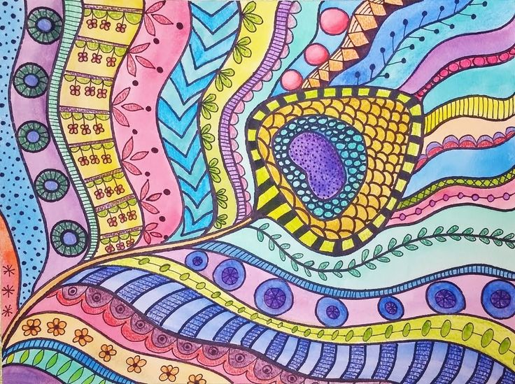 Zentangle Peacock Feather Watercolor LIVE Summer Art