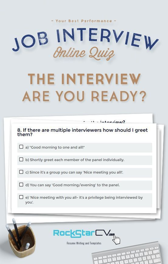 QUIZ The Interview - Are You Ready Resume Templates and Examples