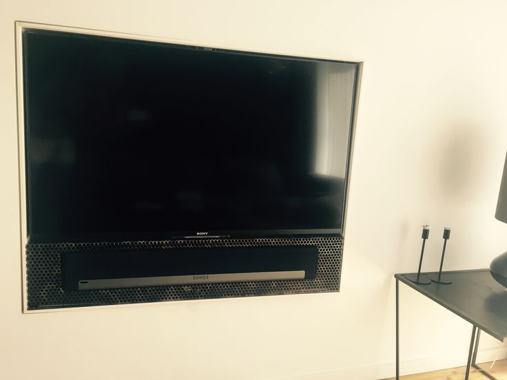 """Built in 50"""" TV, multimedia player, SONOS sound bar, and turns approx. 200 degrees between Living room and Master bedroom. Making TV disappear when having guests and doesn't take up space."""