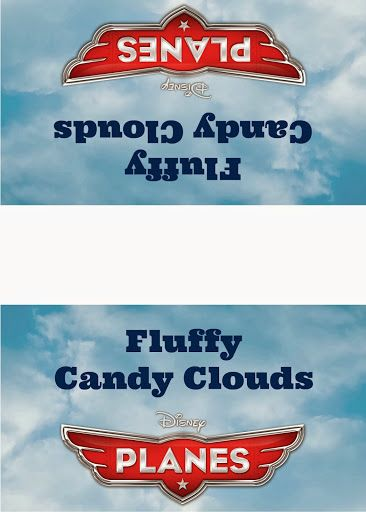 Disney Planes Party Ideas: Fluffy Candy Clouds - Free #Printable Labels #DisneyPlanes