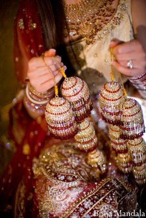indian wedding-ceremony kalira red gold jewels portrait