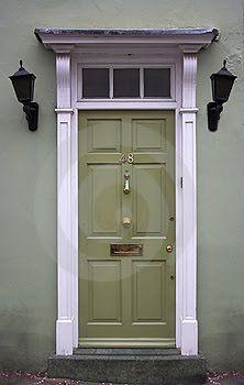 Green door: Green Doors, Paintings Doors, Entry Doors, Green Front Doors, Pink Wallpapers, Doors Color, Transom Window, Paintings Color, Front Entry