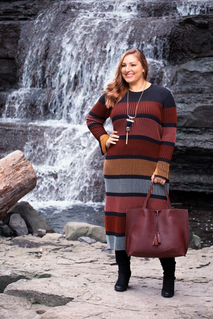 Fall Trends 2016 / Rib-Knit Dress / Reversible Tote / Boho-Chic / bestofthislife.com