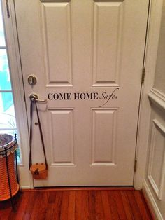Come Home Safe.. Police Officer Door Vinyl Wall by imprinteddecals