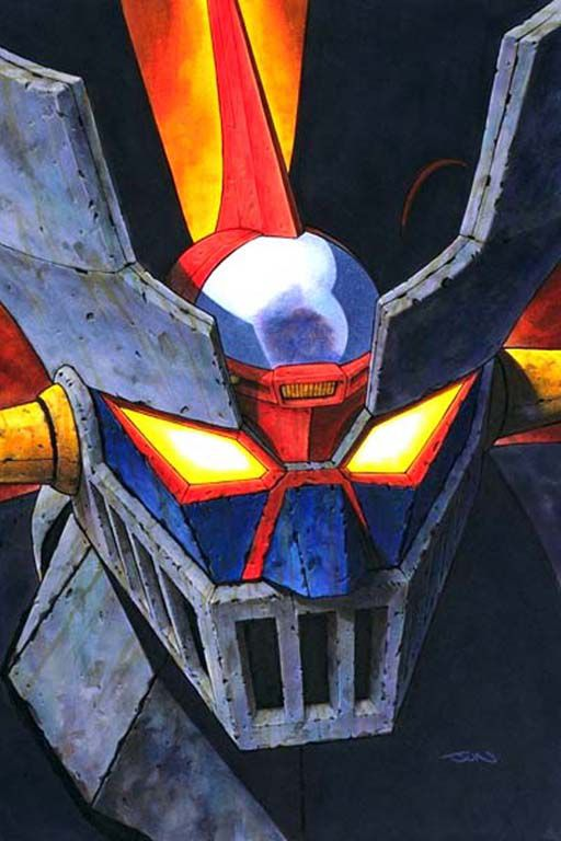 Go Nagai - Mazinger (face close up) (1)