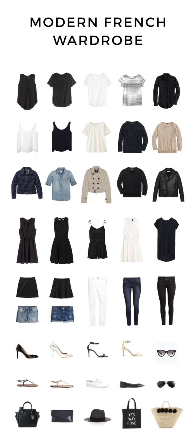 Modern French Wardrobe For Spring And Summer