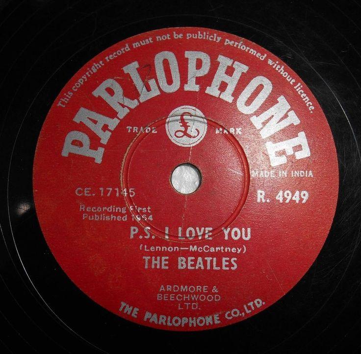 Unique Beatles 78 Rpm Record R4949 Parlophone Label Love