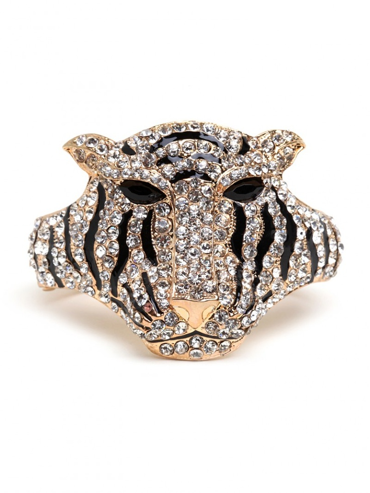 Fun, kitschy accessory for LSU & Auburn fans - Tiger Cuff, $34 - Bauble Bar