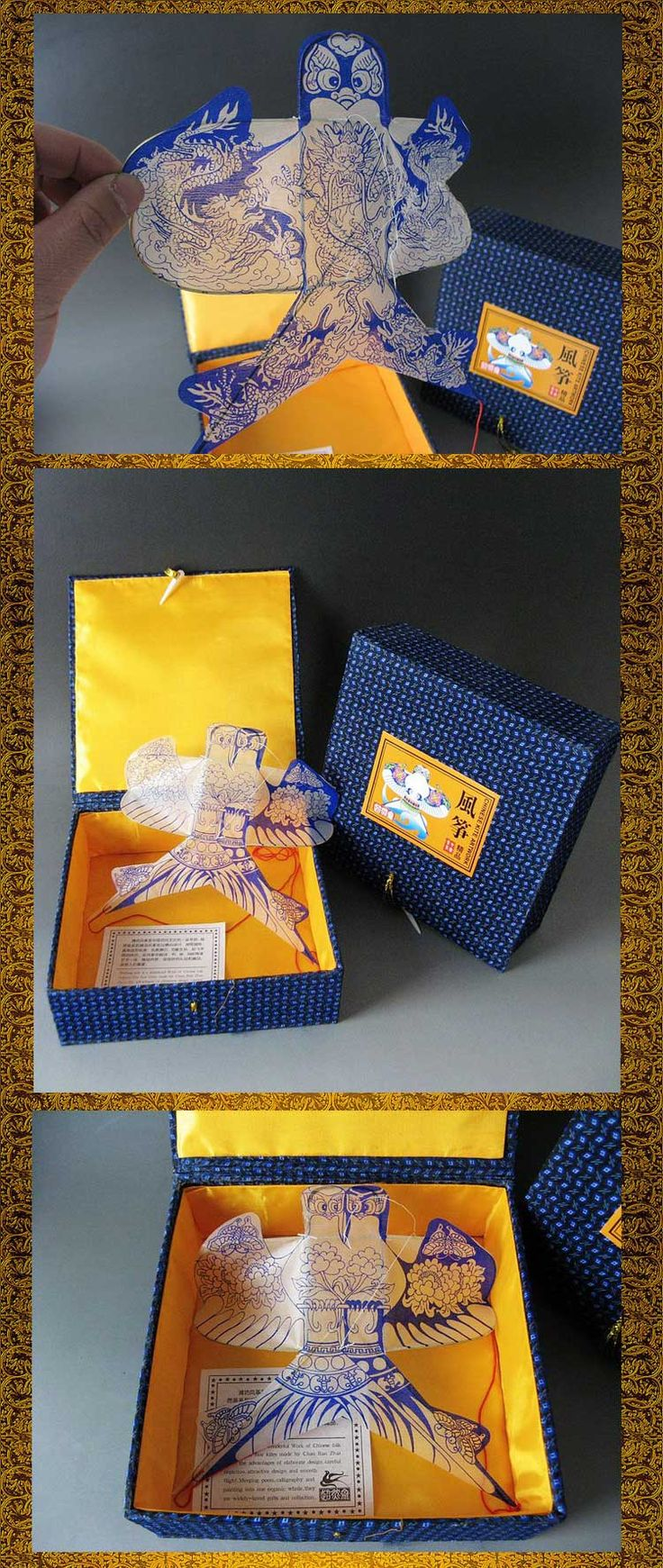 Free shipping Sand yanerwo gift box weifang kite chinese traditional style unique small gift