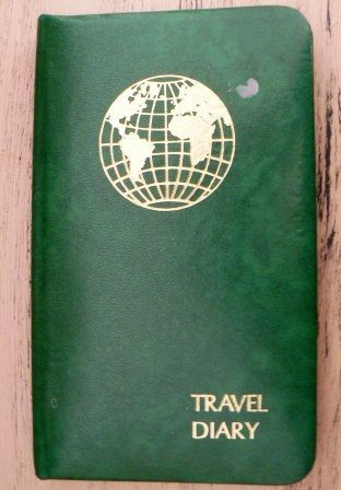 vintage ephemera   vintage TRAVEL DIARY Log Book  by Inktiques, $12.00