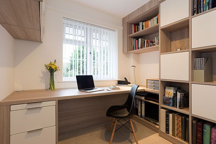 Marvelous A Real Room With Hammonds Fitted Home Office Furniture Installed In A Happy  Customeru0027s Home.