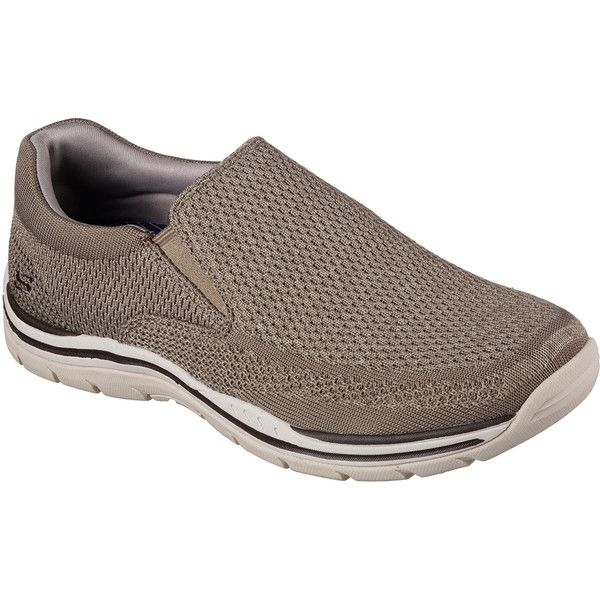 Skechers Men's Relaxed Fit: Expected - Gomel Natural - Skechers ($65) ❤ liked on Polyvore featuring men's fashion, men's shoes, men's loafers, natural, skechers mens shoes, mens slip on shoes, mens slip on loafers, mens slipon shoes and mens loafer shoes