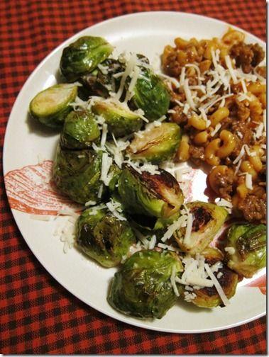 Lemon Parmesan Roasted Brussels Sprouts Recipe — Dishmaps