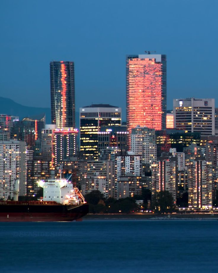 Downtown Vancouver: Paint The Town Red The Last Minute Glowing Red Sunset