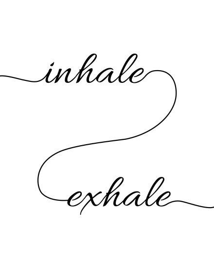 Inhale Exhale print motivational wall art by ArtisticQuotables