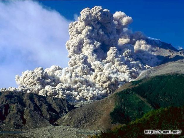 Small pyroclastic flow from Unzen. http://volcano.oregonstate.edu/book/export/html/367
