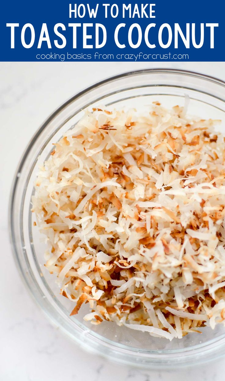 How do you toast coconut - THIS WAY! This is the easiest way to make toasted coconut for ANY recipe with a video demonstration!