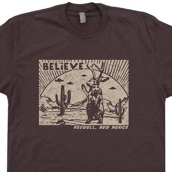 Roswell Jackalope T Shirt UFO T Shirts New Mexico by Shirtmandude