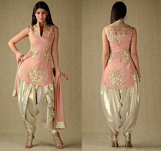 dhoti salwar kameez latest collection