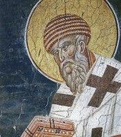 Святитель Спиридон епископ Тримифунтский. Фреска