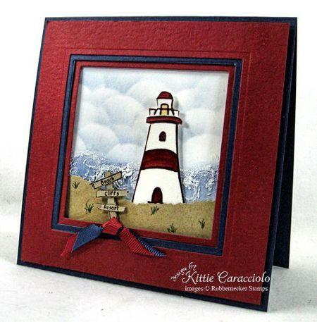 Framed lighthouse - masculine card - Frame Tutorial - bjl