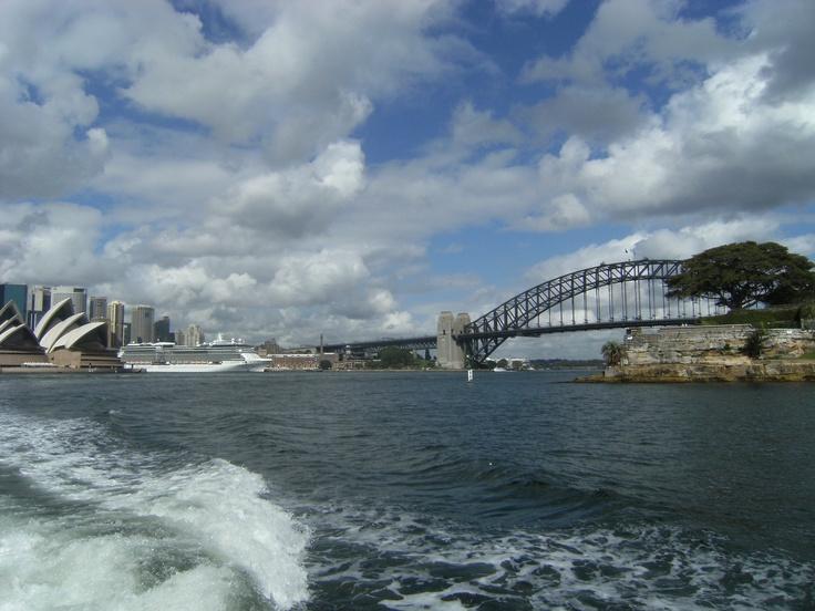 Celebrity in Sydney Harbour