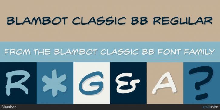 Blambot Classic BB Font DOWNLOAD #font #fonts #typography