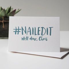 Nailed It Personalised Card - Congratulations Card - Well Done Card - Crushed It - Exam Congratulations Card - Driving Test Card