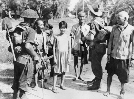 From May 1st - August 1st 1945, Australian forces began a campaign to liberate the island of Borneo from Japanese forces. This pushed the Japanese farther away from Australia. This photo shows Australian forces socializing with the local Indonesian population on June 16th, 1945.   https://cas.awm.gov.au/photograph/018664