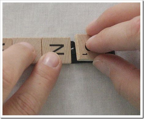 How to make scrabble ornaments