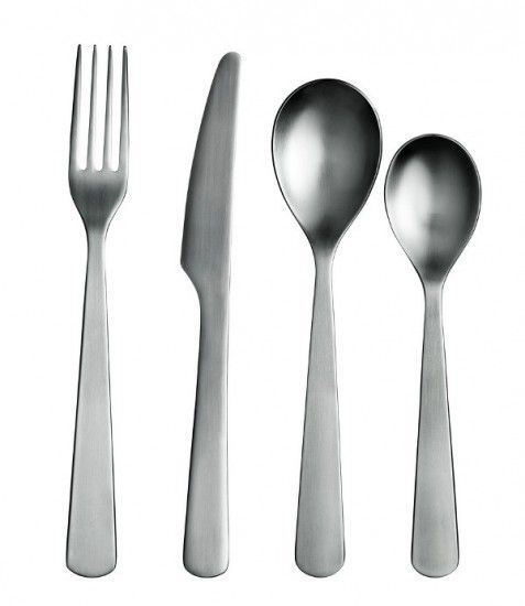 """Normann Copenhagen cutlery is a classic Scandinavian design piece. Designed by Aaron Probyn, this cutlery is simple, elegant and functional.  """"The cutlery always gets good comments and looks great - really pleased with it."""" - Jacqueline Skött director of the restaurant Snaps & Rye on Normann Copenhagen cutlery"""