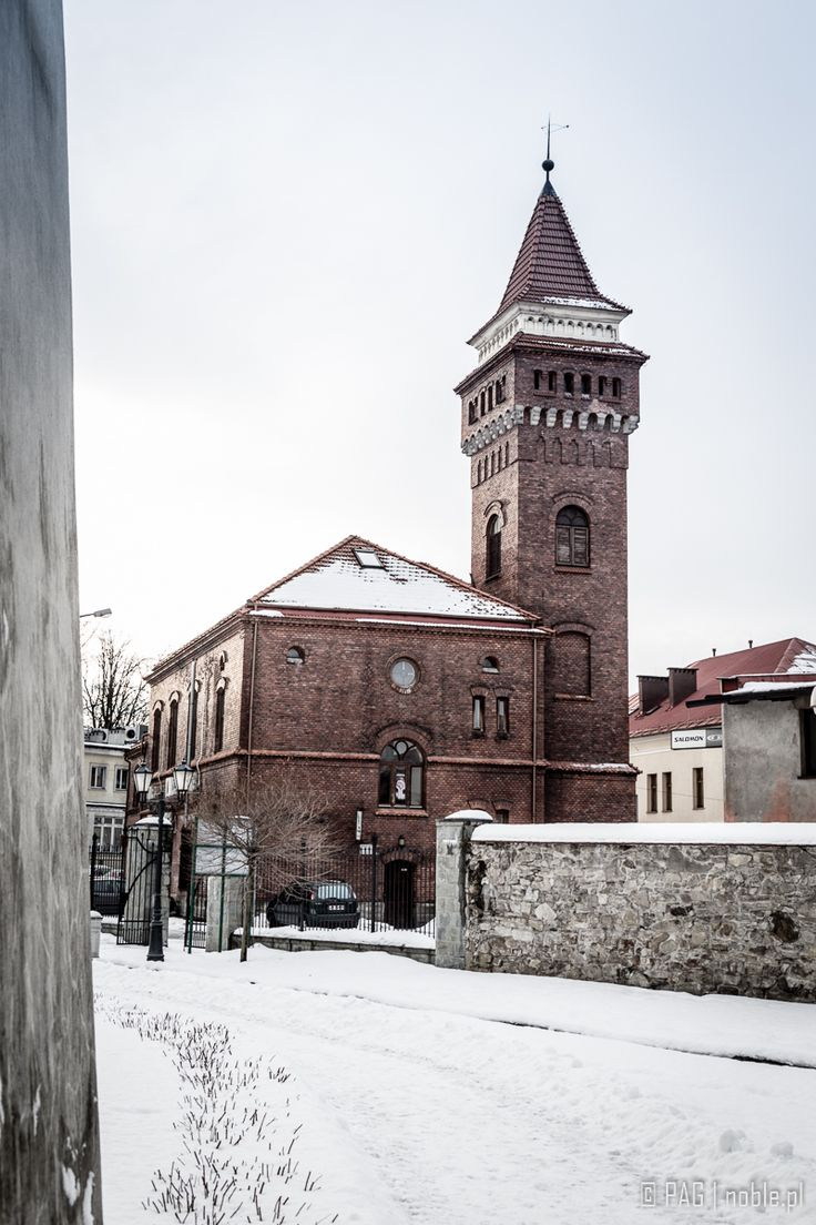 Hundred years old former fire station tower in Zywiec, southern Poland