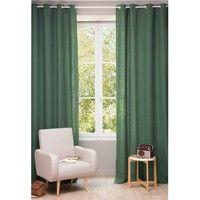 Vorhang aus grobem Leinen mit Ösen 130x300 cm, tannengrün