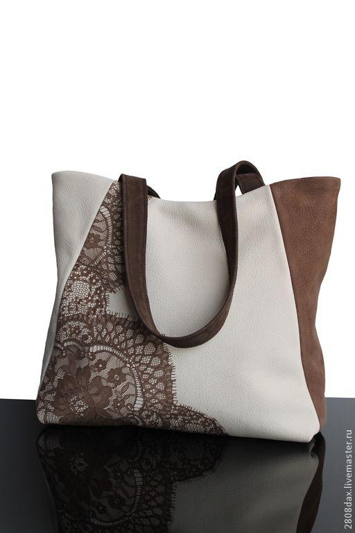 Женские сумки ручной работы. Ярмарка Мастеров - ручная работа. Купить Сумка  кружевная, замшевая сумка, бежевый, сумка на плечо. Handmade.