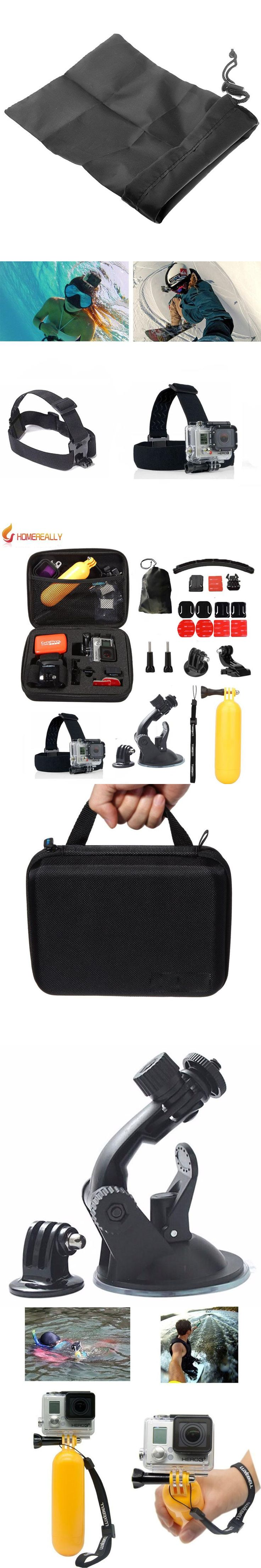 Gopro Accessories Set Go Pro Kit Mount Black Edition SJCAM SJ5000 Camera Case Xiao Yi Chest Tripod For SJ4000 Gopro Hero 5 4 3 2