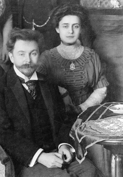 Alexander Scriabin with his second wife