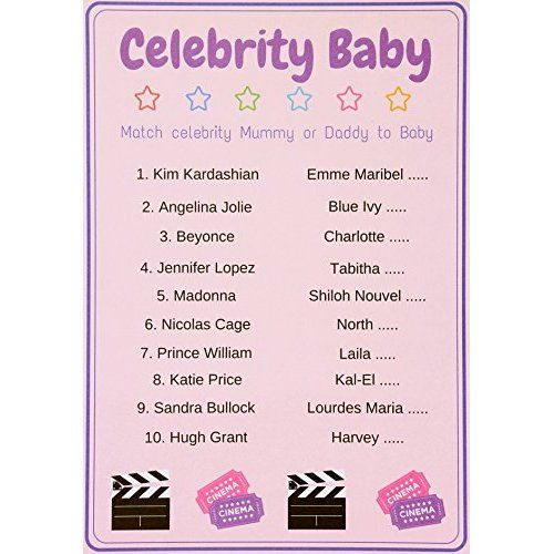 Baby Shower Games Baby Trivia Quiz. Unisex, Pack Of 10 Cards.