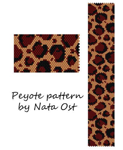 Instant Download Beading Pattern Peyote Stitch Bracelet by NataOst
