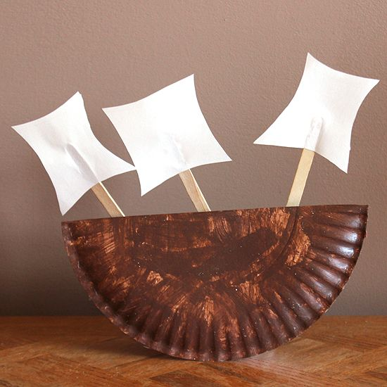 These Thanksgiving boat crafts make a cute centerpiece for the table or just a fun toy for the kids to play with.